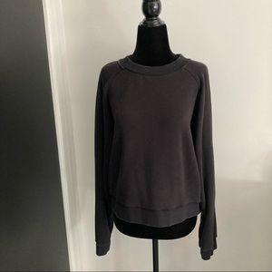 Sunday Best Fleece lined Sweatshirt, Black, Size L